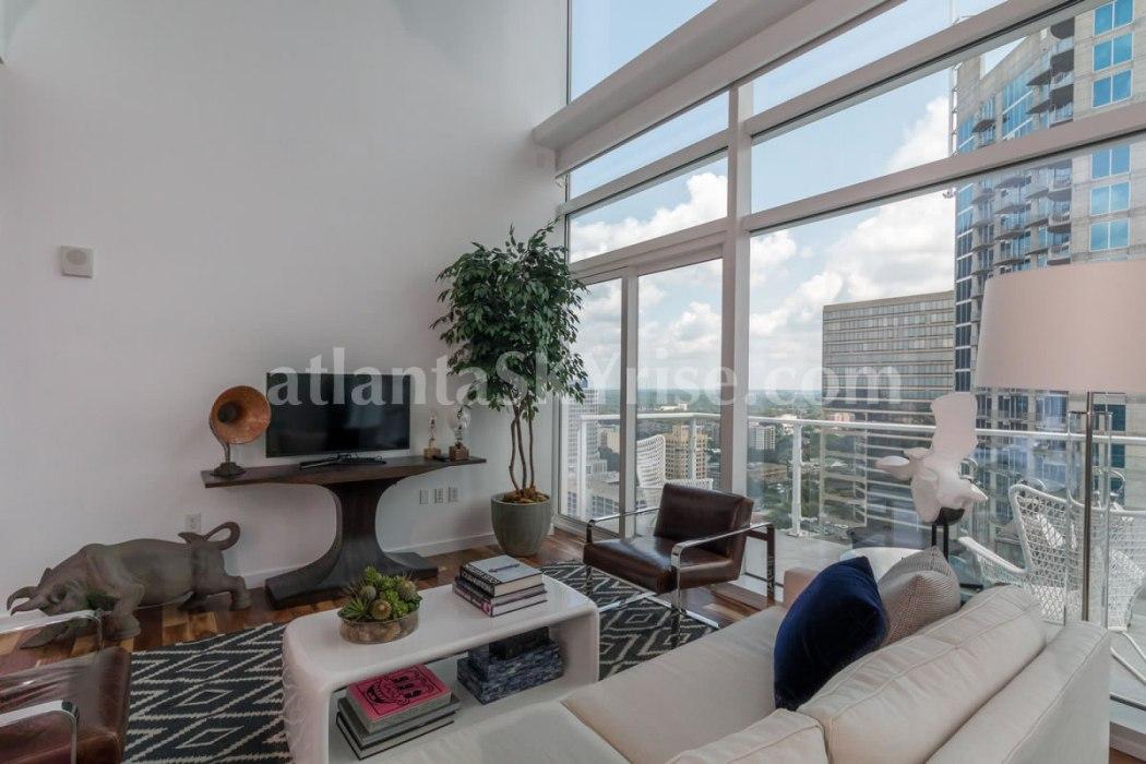 W Residences 45 Ivan Allen Penthouse 2706 Great Room 3