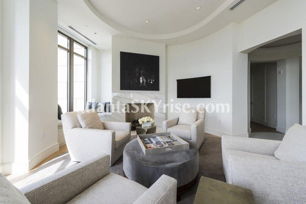 Mandarin Oriental Residences Atlanta Unit 39 Great Room 9