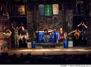The cast of Stomp. Photo by Steve McNicholss