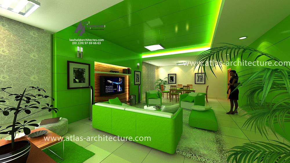 design d espace am nagement int rieur d un s jour pour particulier atlas architecture. Black Bedroom Furniture Sets. Home Design Ideas