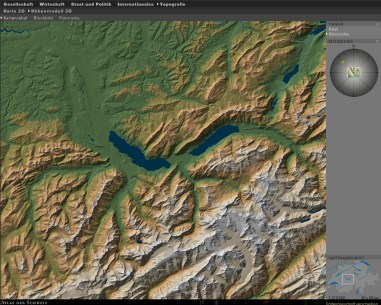 3D Map type: Shaded terrain model with altitude classes