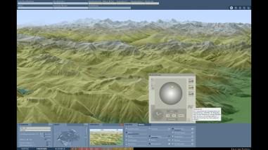 Illumination of the terrain model: Shading direction N