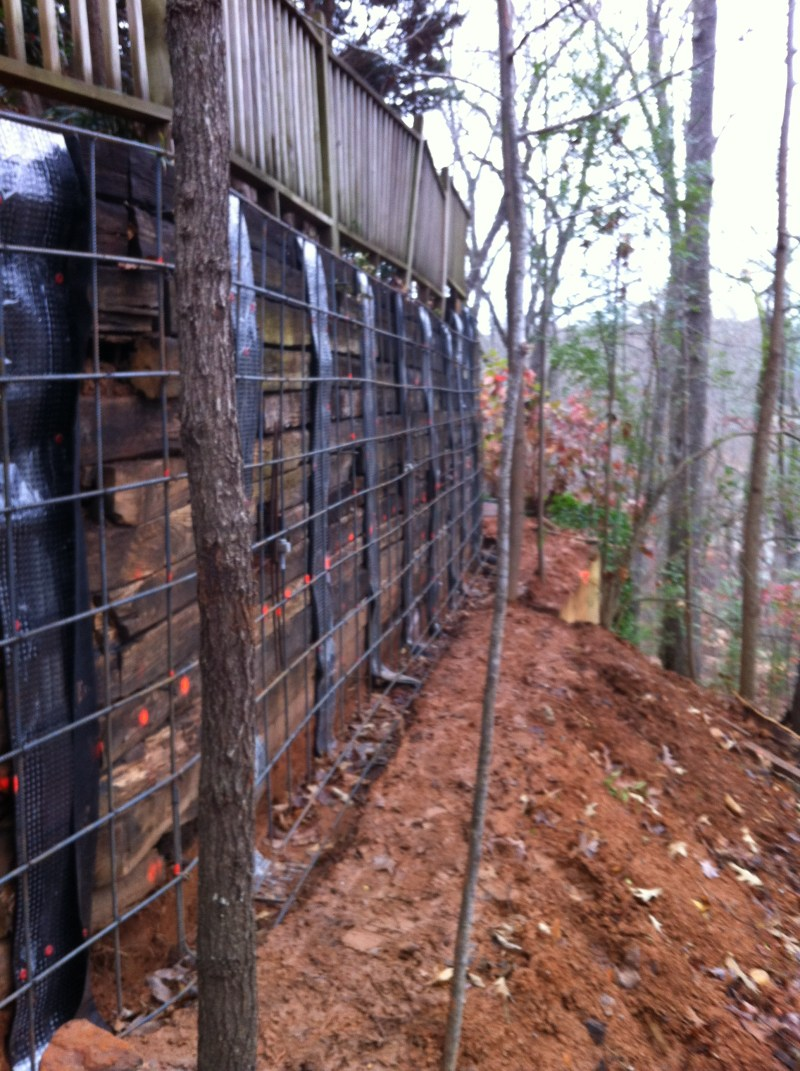 Large Of Railroad Tie Retaining Wall