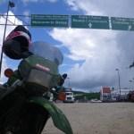 KLR at a Belize Border Crossing