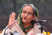 Bangladesh Prime Minister Sheikh Hasina gestures while speaking during a press conference after the national election in Dhaka on January 6, 2014. Bangladesh's Prime Minister Sheikh Hasina insisted her walkover win in an election boycotted by the opposition was legitimate and blamed her rivals for the unprecedented bloodshed on polling day. AFP PHOTO/STRSTR/AFP/Getty Images