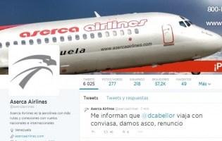 HACKEARON TWITTER DE ASERCA AIRLINES
