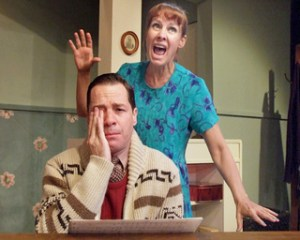 """French Stewart and Laurie Metcalf in """"Voice Lessons"""""""