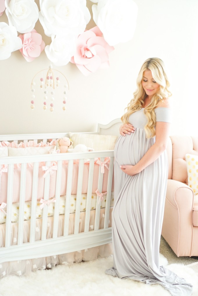 Blogger Katelyn Jones A Touch of Pink Baby Nursery