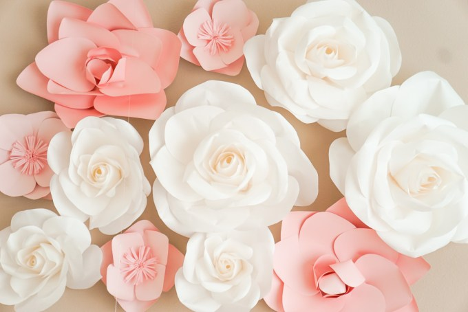 Blogger Katelyn Jones A Touch of Pink Nursery Paper Flowers