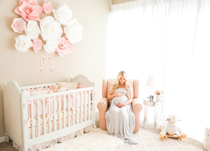 Blogger Katelyn Jones A Touch of Pink Baby Girl Nursery