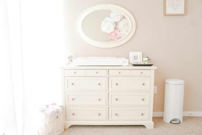 Blogger Katelyn Jones A Touch of Pink Nursery Changing Table