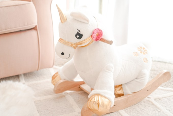 Blogger Katelyn Jones A Touch of Pink Unicorn Rocker Rockabye