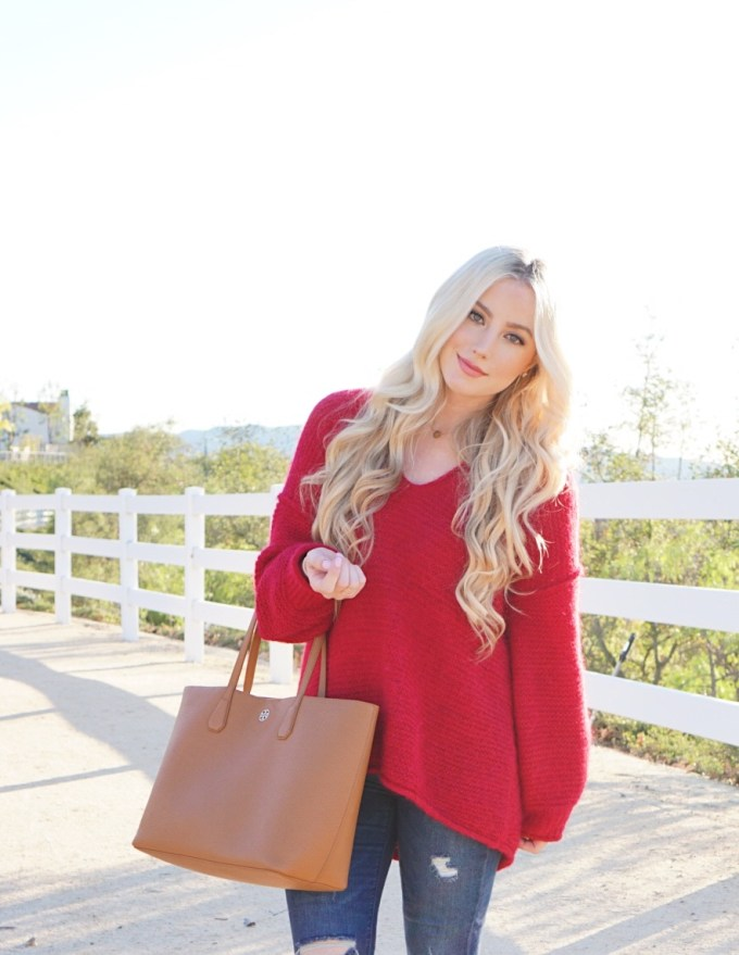 Katelyn Jones A Touch of Pink Slouchy Sweater