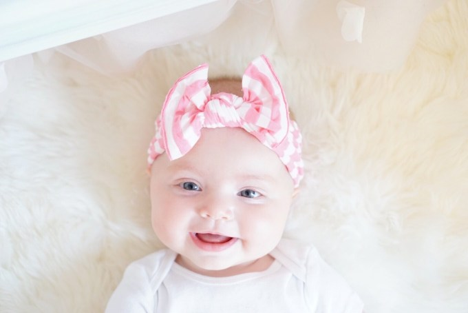 A Touch of Pink Blog Katelyn Jones Baby Girl Baby Bling Bows