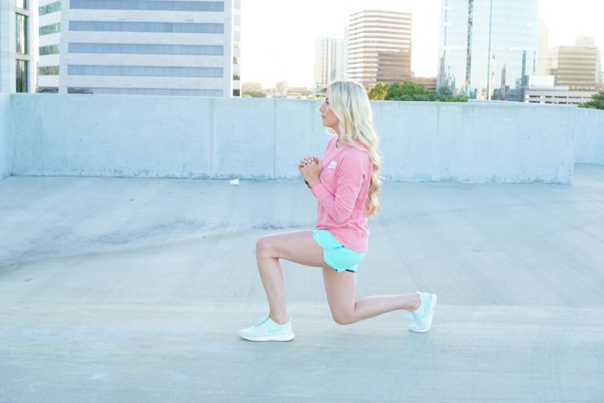 Katelyn Jones A Touch of Pink Blog Lunges Workout Routine