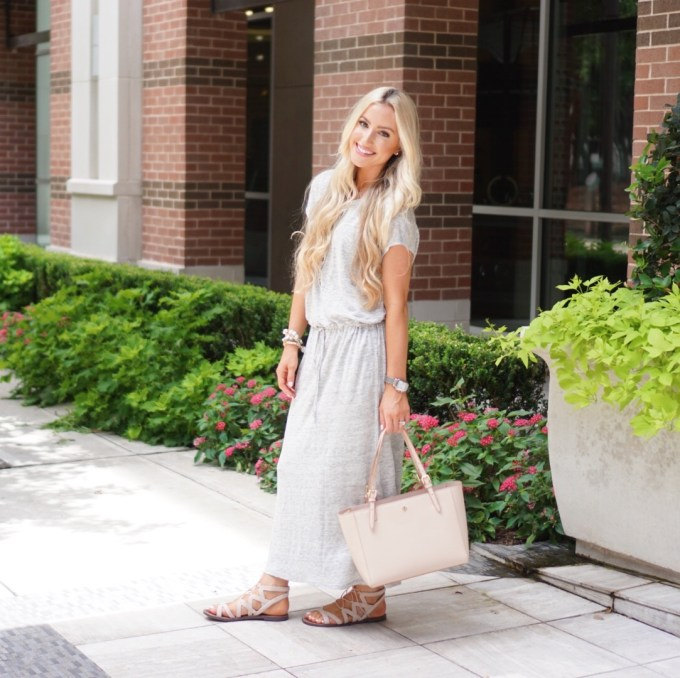 Katelyn Jones A Touch of Pink Blog Maxi Dress