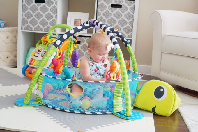 Katelyn Jones A Touch of Pink buybuy BABY The Infantino Grow-With-Me Activity Gym