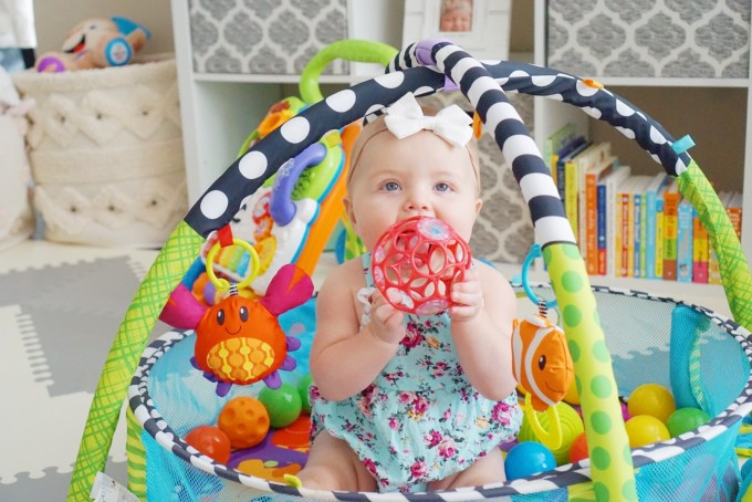 Katelyn Jones A Touch of Pink buybuy BABY Infantino Activity Gym