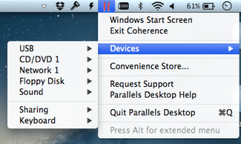 Parallels Desktop 8: Start Icon in Coherence mode