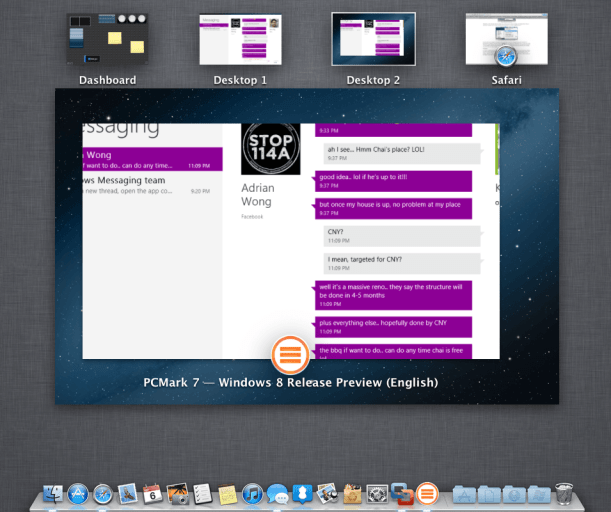VMware Fusion 5: Unity Mode