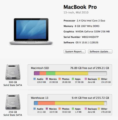 My MBP's specifications