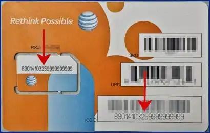 AT&T SIM Card Example