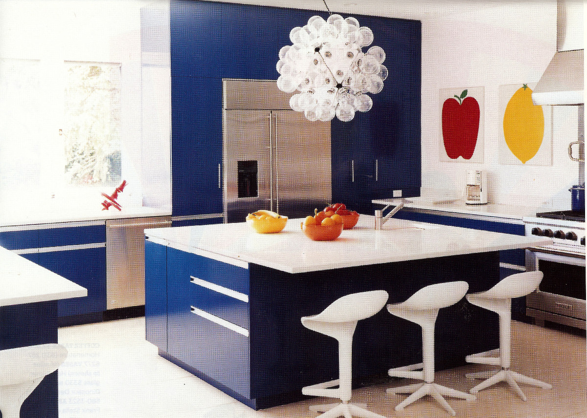 electric blue kitchen blue kitchen cabinets Will blue and white fans love the deep hue of these blue kitchen cabinets and this modern take