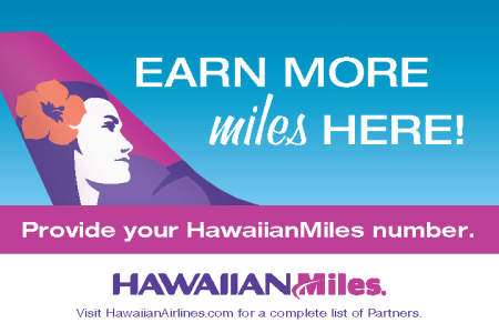 Provide your HawaiianMiles number when booking to earn miles!