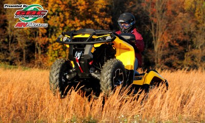 2012 Can-Am Outlander 1000 XT Utility ATV Wheelie -