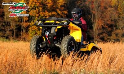 2012 Can-Am Outlander 1000 XT Utility ATV Wheelie -