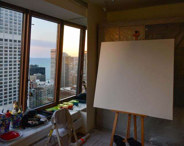 Chicago-express-peinture-Michelle-Auboiron
