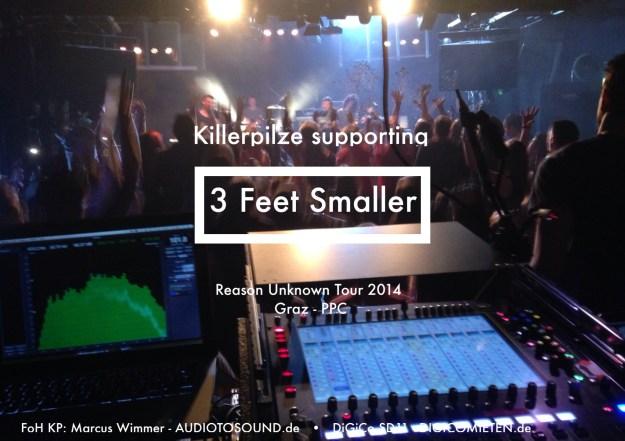 Killerpilze_ReasonUnknownTour_Graz_3FeetSmaller_Tontechniker_Marcus_Wimmer_DiGiCo_Waves