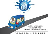 "Audition flyer ""Ride Share"""