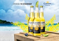 Modeling job for a print ad for Corona