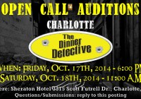 Mustery Dinner Theater in Charlotte needs actors, holding open call auditions