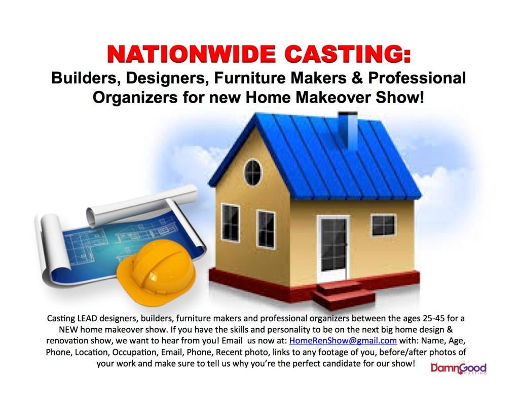 New Home Renovation Show Casting Builders Designers