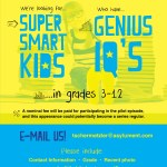 Kids Casting Call – Smart Youngsters & Teens Nationwide