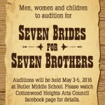 """Utah Theater Auditions for """"Seven Brides for Seven Brothers"""""""