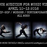 NYC Area Dancers for Student Music Video