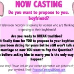 Major TV Network Casting Ladies Who Want to Propose in NYC