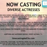 New Major Network Show Casting Up and Coming Actresses in L.A.