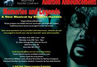 """""""Memories and Legends"""" audition notice in MD"""