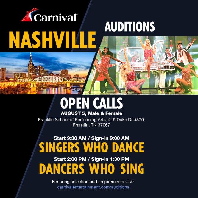 Nashville audition flyer