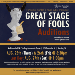 "Open Auditions in Virginia for Shakespearean Character Mystery ""Great Stage of Fools"""