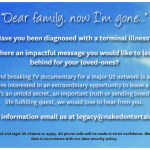 Major US Network Docu-Series Casting People With Terminal Illness