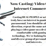 Casting Diverse Group of Gamers in Roswell New Mexico for Paid TV Commercial