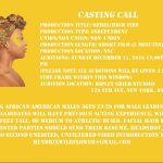 Africal American Actor for Lead Role in Music Video – NYC