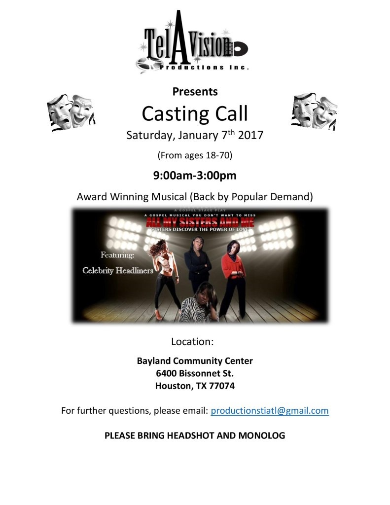 auditions and casting calls by location and production
