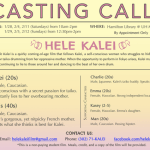 "Casting a Student Film Project in Honolulu, Hawaii, Lead and Supporting Roles in ""Hele Kalei"""