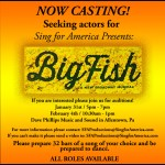 "Auditions in Allentown PA for Musical ""Big Fish The Musical"""